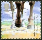 Штемпель почтового сбора Великобритании следа пеннина Trans Стоковые Изображения RF