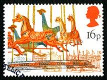 Штемпель почтового сбора Великобритании Carousel Стоковое Изображение