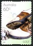 Штемпель почтового сбора гольфа австралийский Стоковое Изображение