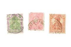 Штемпель почтового сбора изолированный на белой предпосылке Немецкое sta почтового сбора стоковые изображения