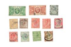 Штемпель почтового сбора изолированный на белой предпосылке стоковые изображения