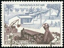 Штемпель почтового сбора - Мадагаскар Стоковое Фото
