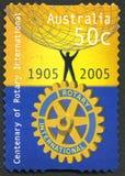 Штемпель почтового сбора международного вращения австралийский стоковое изображение rf