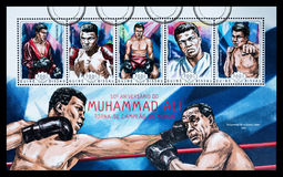 Штемпель почтового сбора Мохаммед Али Стоковое фото RF