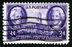 Штемпель почтового сбора США государственности Теннесси Стоковые Фотографии RF