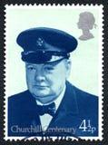 Штемпель почтового сбора Уинстона Черчилля Великобритании Стоковое Фото