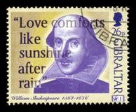 Штемпель почтового сбора Уильям Шекспир Стоковая Фотография RF