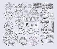 Штемпель почтового сбора Стоковое Изображение RF
