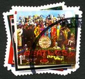 Штемпель почтового сбора Beatles Великобритании Стоковые Изображения RF