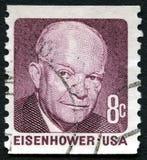 Штемпель почтового сбора Einsenhower США Стоковая Фотография RF