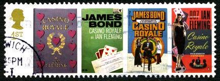 Штемпель почтового сбора Royale Великобритании казино стоковые фото