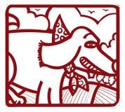 Штемпель собаки Стоковое фото RF