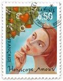 Штемпель столба любов гороскопа Стоковая Фотография RF