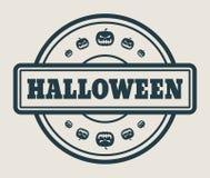 Штемпель с текстом хеллоуина Стоковые Фотографии RF