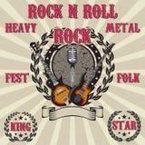 Штемпель с rocknroll символов иллюстрация штока