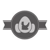 Штемпель уплотнения яичек цыпленка иллюстрация вектора