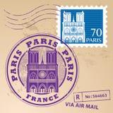 Штемпель установленный Париж Стоковая Фотография RF