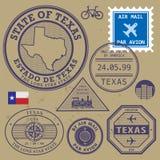 Штемпель установленный Техас, США иллюстрация вектора