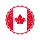 Штемпель флага Канады с grunge также вектор иллюстрации притяжки corel Стоковое фото RF