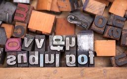 Штемпель Aphabet, печатные буквы стоковое фото