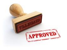 Штемпель Approved изолированный на белизне Концепция согласования или утверждения Стоковое Изображение