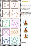 Штемпеля и головоломка изображения тренировки IQ печатей иллюстрация штока