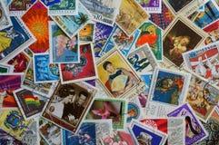 штемпеля почтоваи оплата стран различные Стоковые Фото