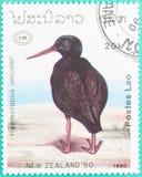 Штемпеля почтового сбора были напечатаны в Лаосе Стоковые Изображения RF