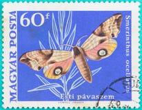 Штемпеля почтового сбора были напечатаны в Мадьяре Posta Венгрии Стоковые Фотографии RF
