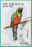 Штемпеля почтового сбора были напечатаны в Никарагуа Стоковые Фото