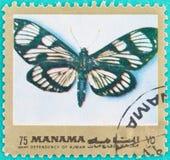 Штемпеля почтового сбора были напечатаны в Объединенных эмиратах Стоковое фото RF