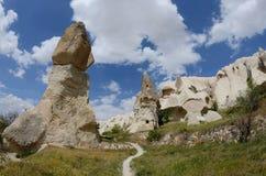 Штендеры вулканической породы в долине шпаги, Cappadocia, Турции стоковое фото