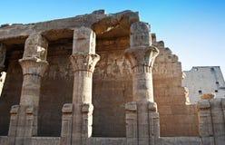 Штендеры на виске Edfu, Нубия, Египте стоковые фото