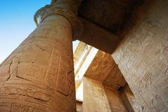 Штендеры на виске Edfu, Нубия, Египте стоковое изображение rf