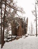 Штендеры Krasnoyarsk запаса в зиме Штендер пер стоковые изображения rf