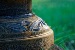 Штендер декоративного конца-вверх макроса стальной, defocused предпосылка стоковое изображение