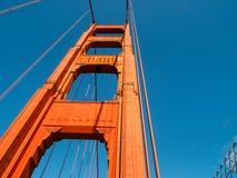 Штендер моста золотого строба в Сан-Франциско, Калифорнии стоковая фотография rf