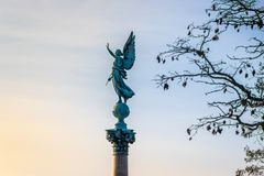 Штендер Ivar Huitfeldt, статуя ангела, Копенгаген стоковое изображение