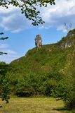Штендер Katskhi, монастырь на столбце, Грузии стоковые изображения