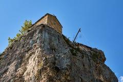 Штендер Katskhi, монастырь на столбце, Грузии стоковая фотография rf