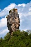 Штендер Katskhi, монастырь на столбце, Грузии стоковые фотографии rf