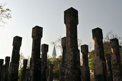 Штендеры в древнем городе Polonnaruwa, Шри-Ланки стоковые фотографии rf