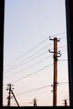 Штендеры за окном Стоковое Фото