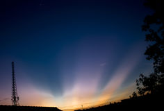 Штендер и Венера восхода солнца Стоковое фото RF