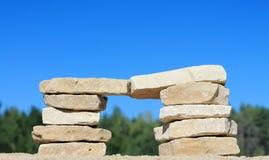 Штендер камня стоковое изображение rf