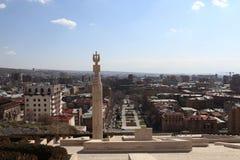 Штендер на каскаде и Ереване стоковые изображения