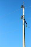 Штендер с линией электропередач стоковое фото rf