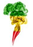 Штендер дыма покрашенный в флаге регги стоковая фотография