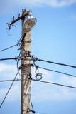 Штендер электрического провода линии электропередач Стоковое Изображение