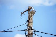 Штендер электрического провода линии электропередач Стоковая Фотография RF